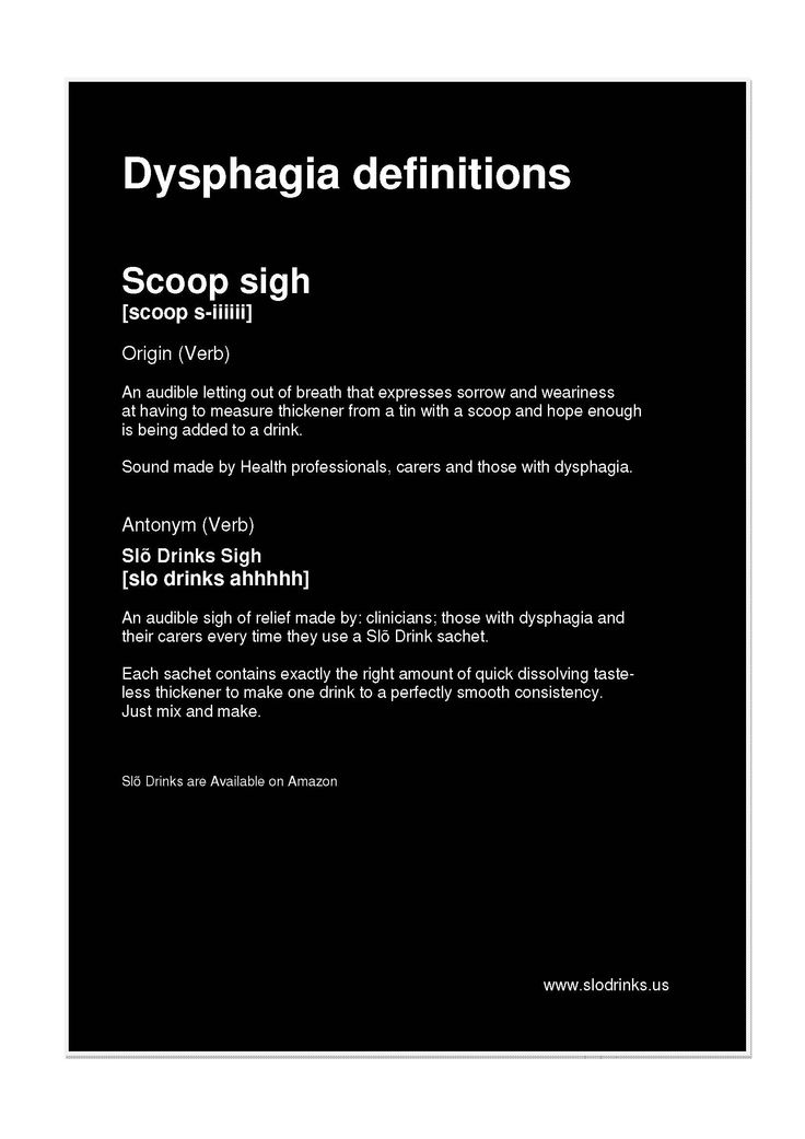 #Dysphagia definitions - Scoop #sigh