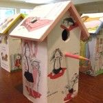 Birdhouse made by a 6th grader at Tenacre Country Day School in Wellesley, MA using Eloise written by Kay Thompson and illustrated by Hilary Knight: Elois Written, Kay Thompson, Tenacr Country, Hilarious Knights, Birds House, Bookish Birdhouses, 6Th Grader