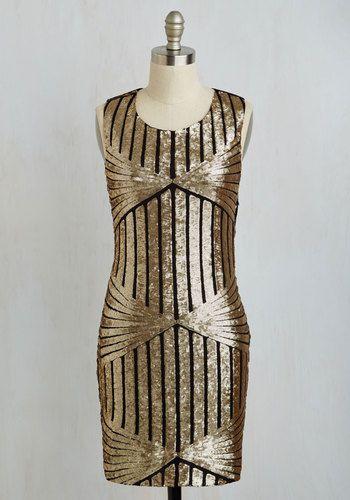 1920s deco sequins cocktail dress