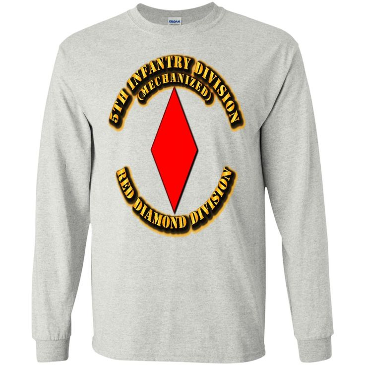 5TH INFANTRY DIVISION RED DIAMOND DIVISION BY TWIX123844 G240 Gildan LS Ultra Cotton T-Shirt