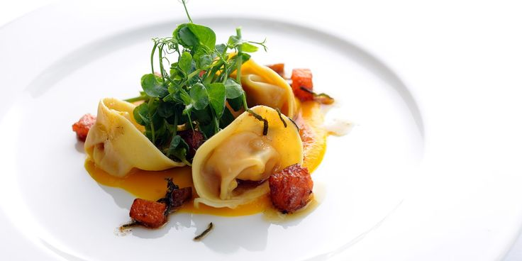 Pumpkin tortellini with chestnuts and a sage beurre noisette