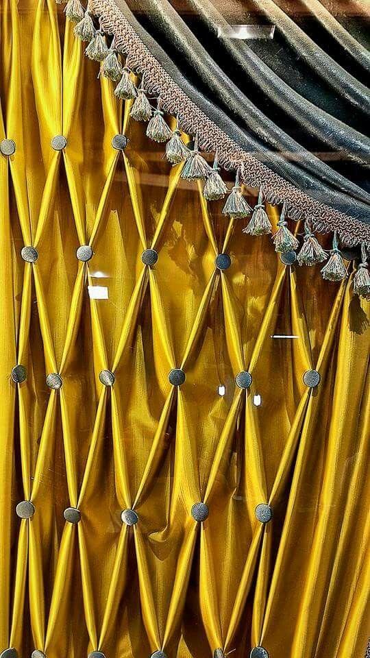 #draperi #tassel #curtain #perde #fonluk #essaperde #düğme #sarı