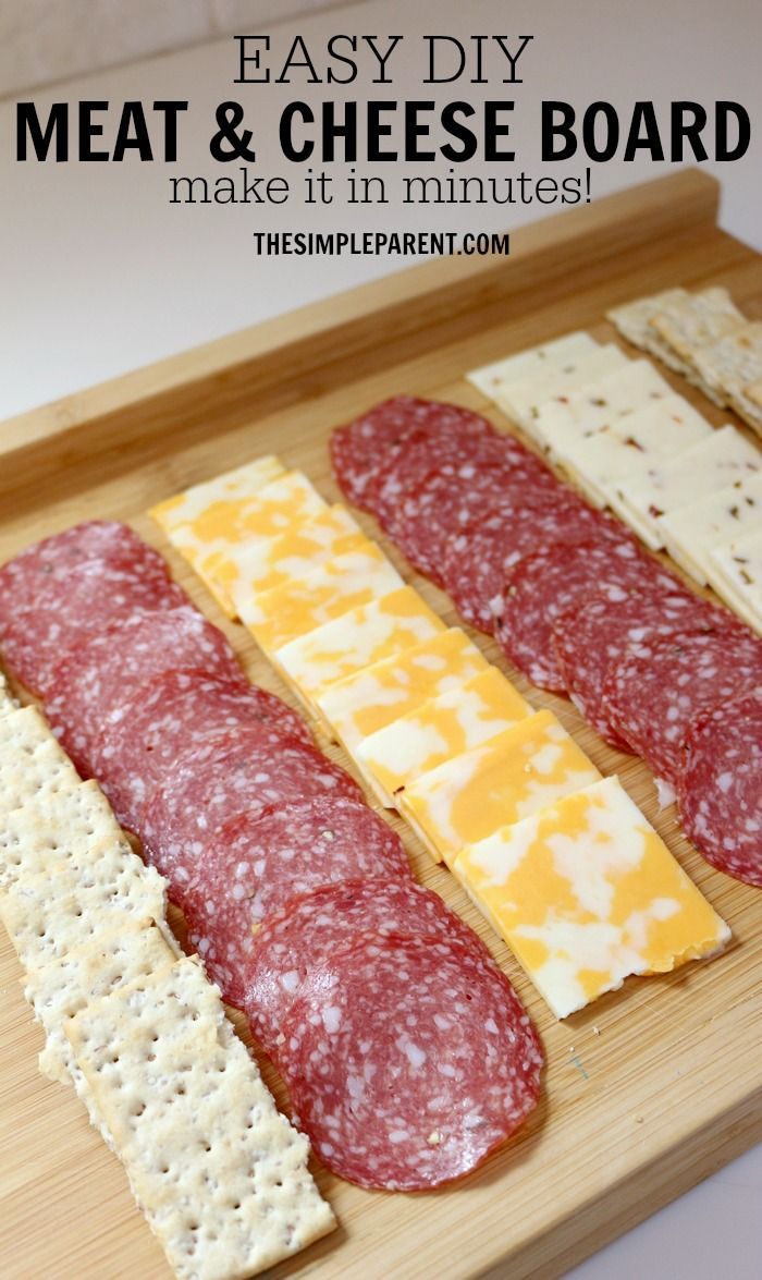Make entertaining easy with this DIY meat and cheese board idea! (sponsored)