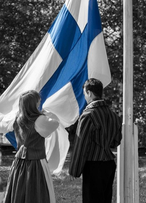 Flag of Finland by www.minorpostcards.fi