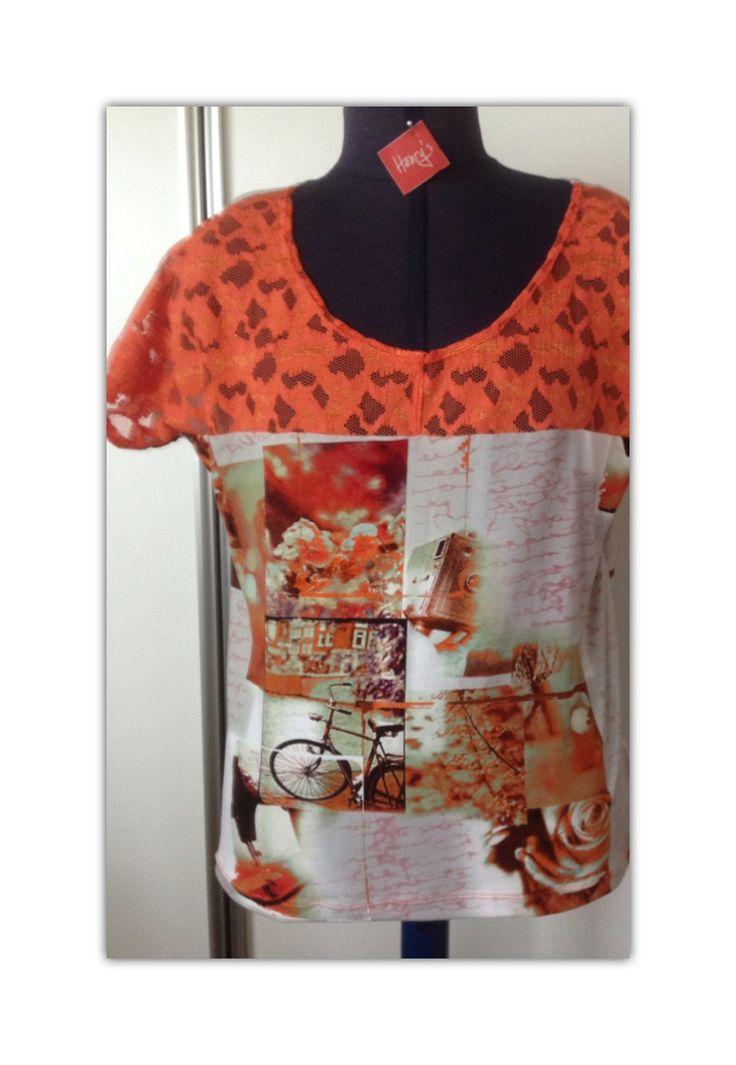 Ny t-shirt i glade solskinsfarver