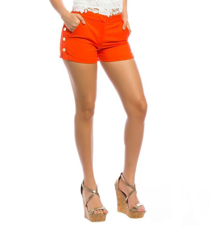 Short Botones En Costado Moda Moda Femenina Femenina