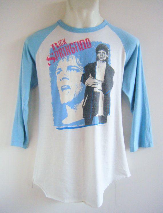 vintage RICK SPRINGFIELD 1984 world tour 3/4 by sugarshackvintage, $92.00
