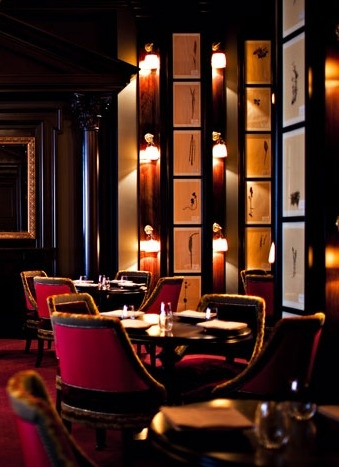 Lounge of the NoMad Hotel by Jacques Garcia, New York.