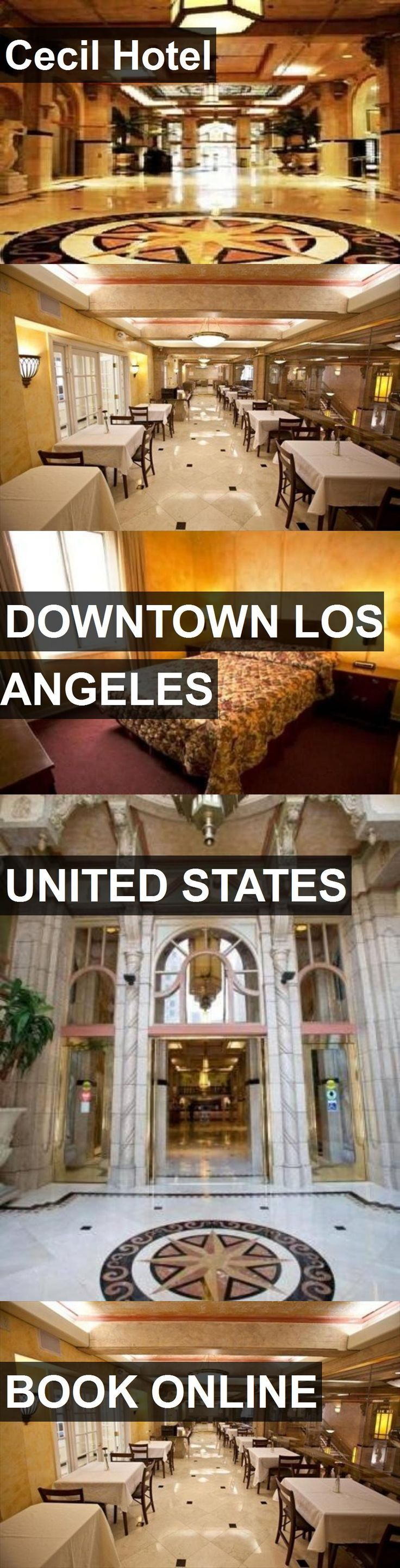 Cecil Hotel in Downtown Los Angeles, United States. For more information, photos, reviews and best prices please follow the link. #UnitedStates #DowntownLosAngeles #travel #vacation #hotel