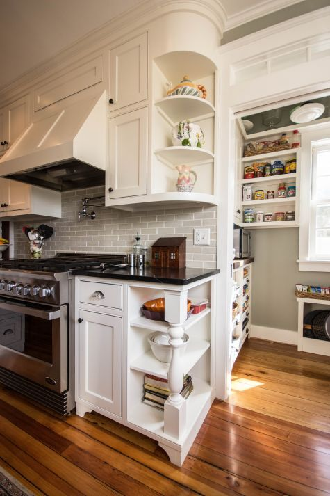 A mid-19th century Greek Revival Vermont home had a sad, disjointed 1970's kitchen that just needed to go. Not only did we restore the kitchen honoring the architectural style of the period, but we...