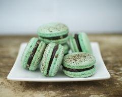 Macarons menthe chocolat (facile, rapide) - Une recette CuisineAZ