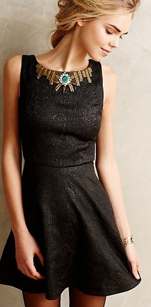 Pretty party dress with embellished collar #anthrofave http://rstyle.me/n/tb742n2bn
