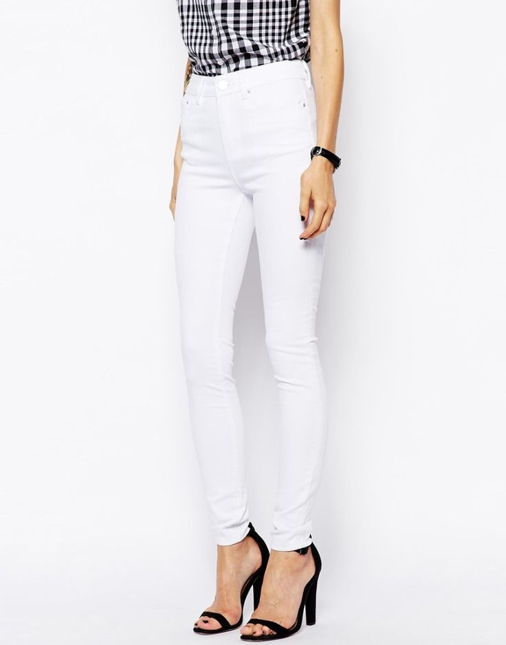 Pretty White High Waisted Jeans