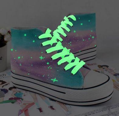 Harajuku galaxy students graffiti painted canvas shoes