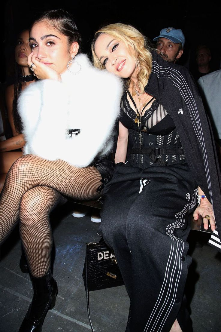 Madonna and daughter Lourdes Maria Ciccone Leon at the Alexander Wang NYFW show