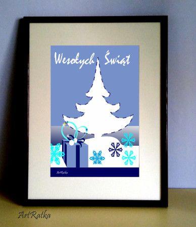 Plakat świąteczny A-3 - ArtRatka - Boże Narodzenie