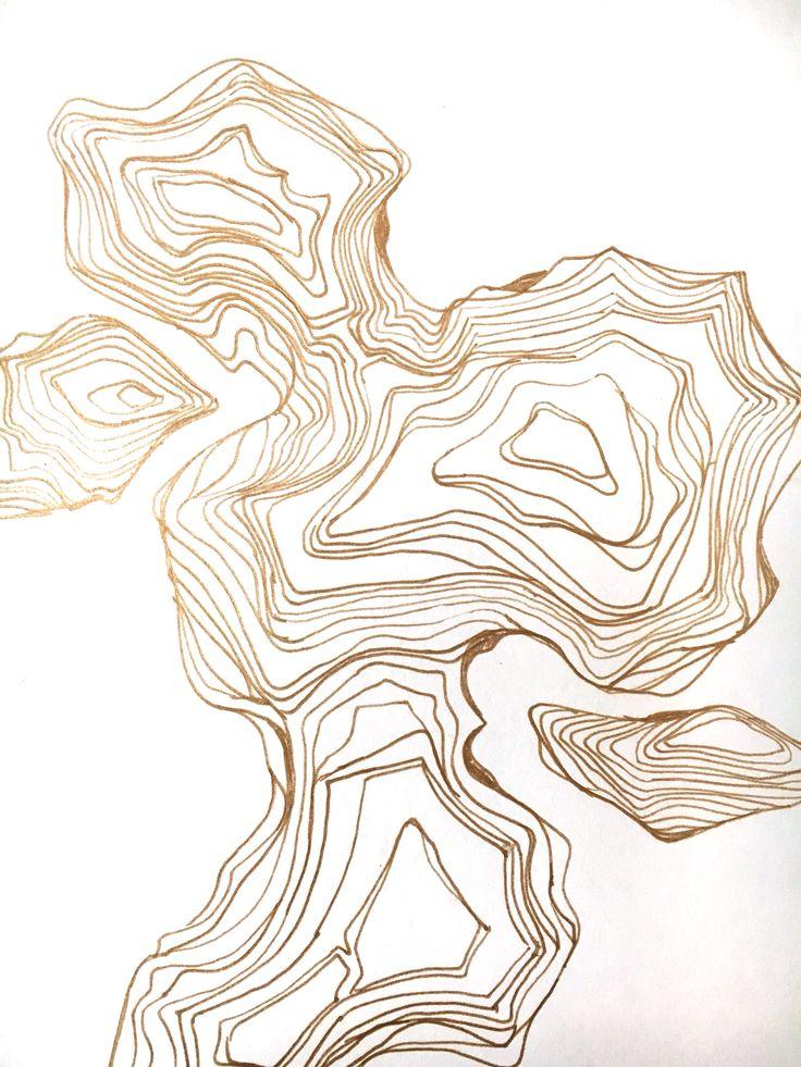 Golden Threads flexfits.com    #art #gold #artwork #pattern #inspiration #design