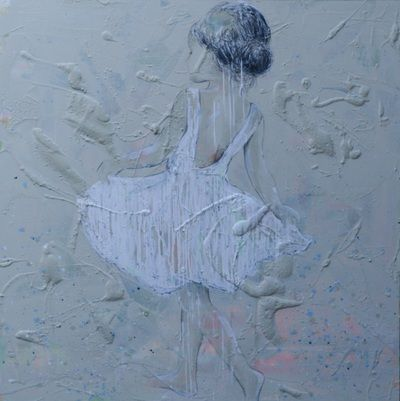 ballet girl painting 100x100
