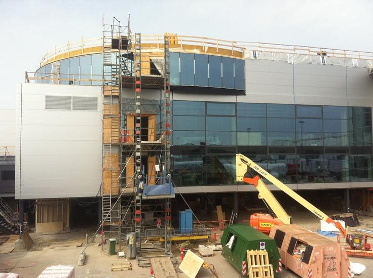 Panorama Lounge under construction in Pier C at Copenhagen Airport.