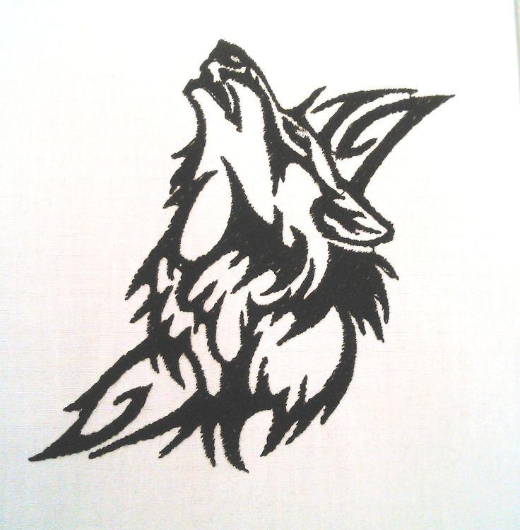 fichier de broderie machine tribal loup : Art numérique par be-a-zen-broderie