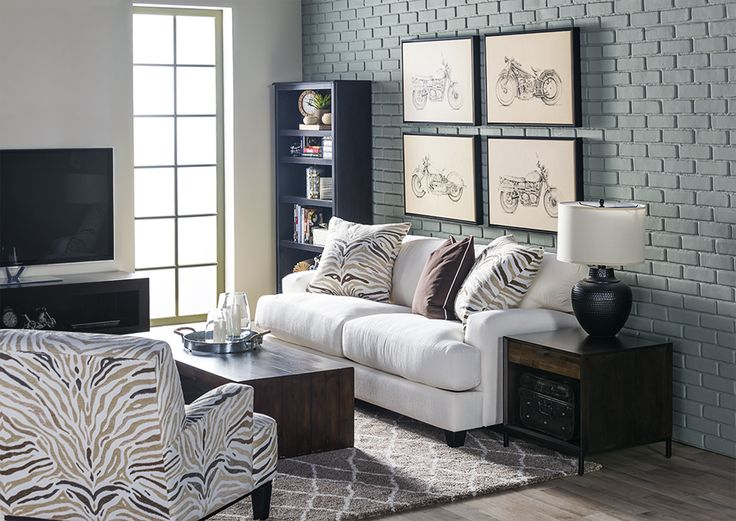 room set up with the bookcase not liking the pattern living spaces collect