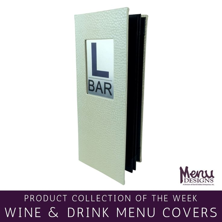 Product Collection of the Week: Wine & Drink Menu Covers. There are many ways to show off your wine list and other drink options with the variety of menu designs we have to offer. Choose a drink menu cover design that represents your restaurant or hotel establishment while matching your larger food menus. We are a custom manufacturer, so we can make one-of-a-kind wine and drink menu covers for any bar, restaurant or hotel. #menudesigns #menucovers #menu #design #wine #drink #beverage…