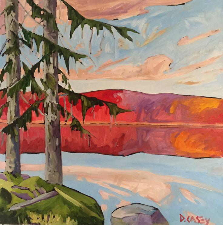 Still Morning by David Casey. Ottawa artist, Canadian artist, landscape art, SANTINI GALLERY.