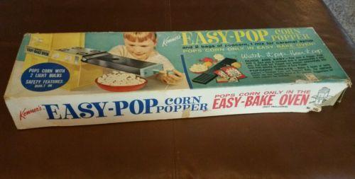 Kenner's Easy Pop Corn Popper Vintage Rare Toys Easy Bake Oven Accessory