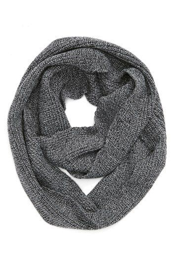 Can men wear infinity scarves? Yes! Men's grey snood - infinity scarf.