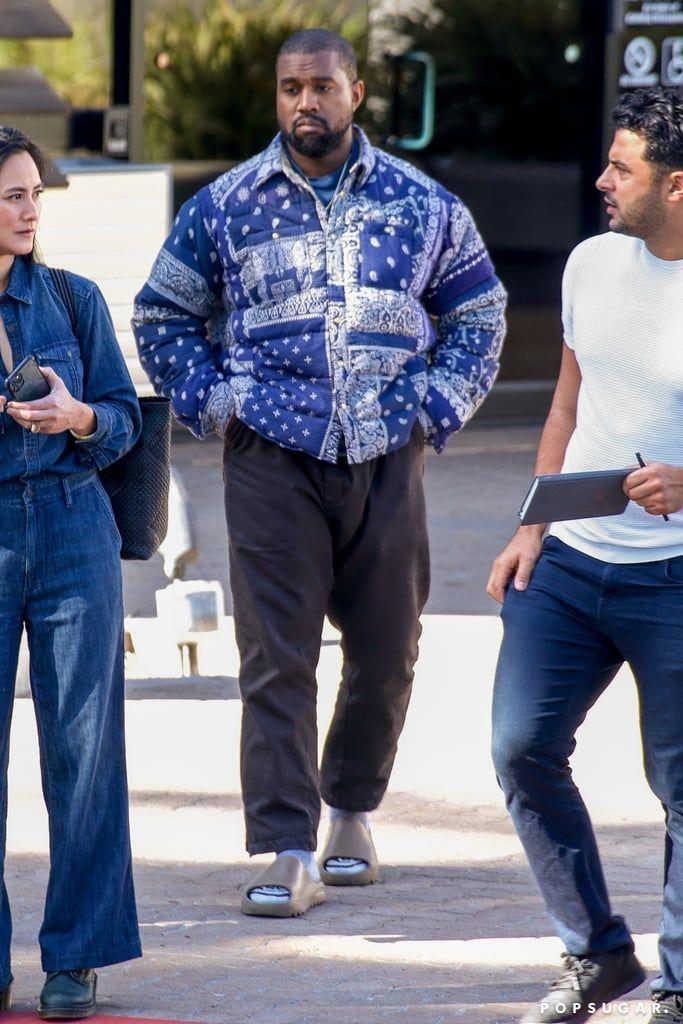I Want To Be Wearing That Kanye West S Bandana Print Puffer In 2020 Kanye West Outfits Kanye West Style Kanye Fashion