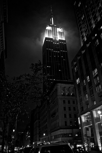 New York 2012 - NYC in Black and White - Empire State Building by Gooseteeth, via Flickr