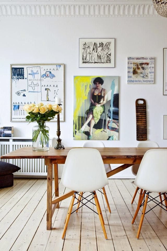 That Gallery Wall Tho Interior Decor Decoration Dinning Room Yellow Bright Modern Simple Casual Art