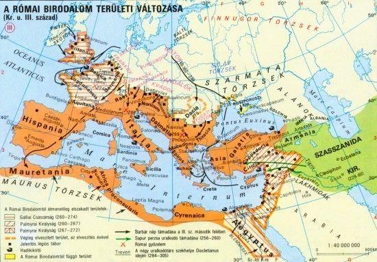 A Római Birodalom területi változása (Kr.u. III. sz.)