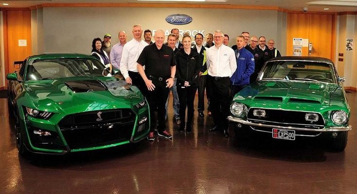 Green 2020 Ford Mustang Shelby Gt500 Remembers The 1968 Exp500 Prototype Ford Mustang Shelby Ford Mustang Shelby Gt500 Mustang Shelby