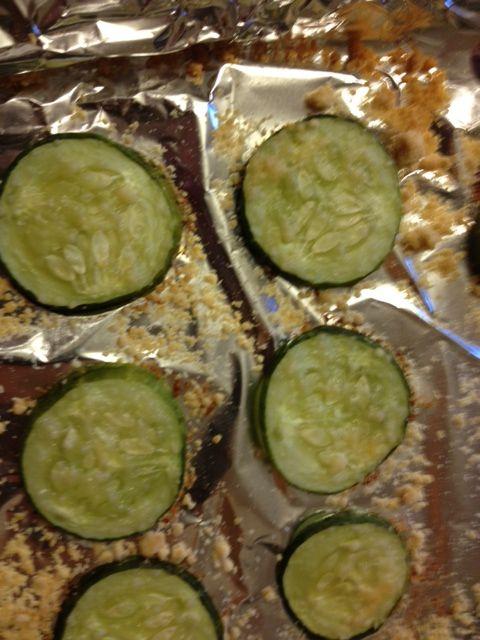 Parmesan baked Cucumber chips