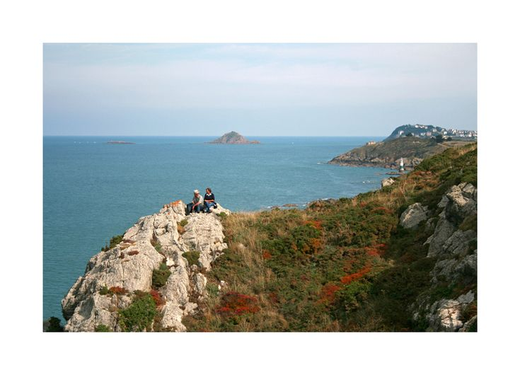 Verdelet Island in Dahouet, Bretagne_ West France