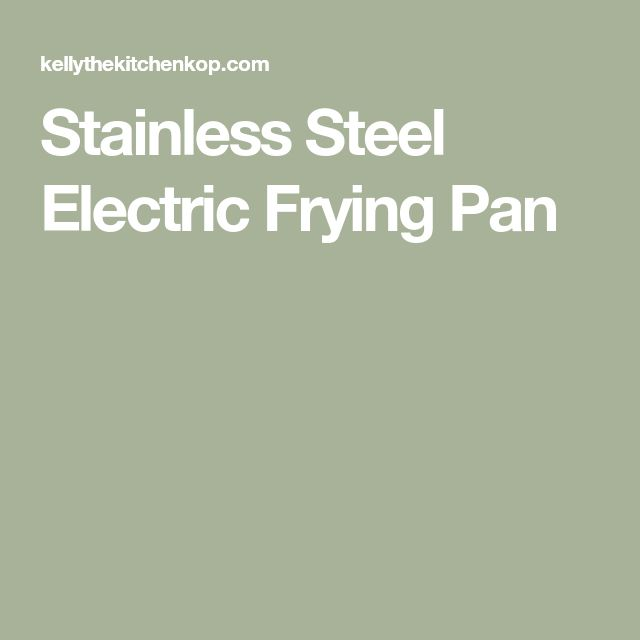 Stainless Steel Electric Frying Pan