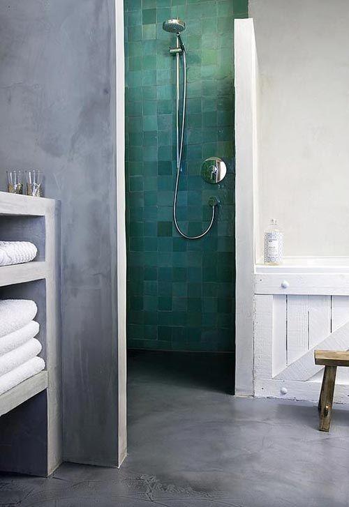 hammam badkamer beton cire Hammam badkamer
