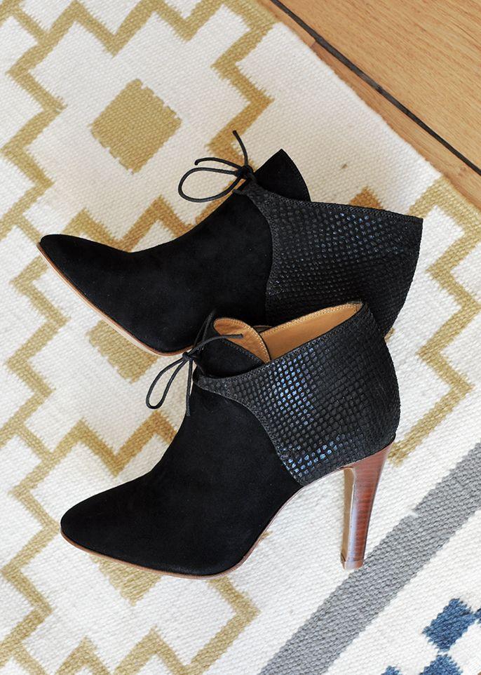 SEZANE  / Morgane Sézalory - Hunter boots - #sezane http://www.sezane.com/ #frenchbrand #boots #heels