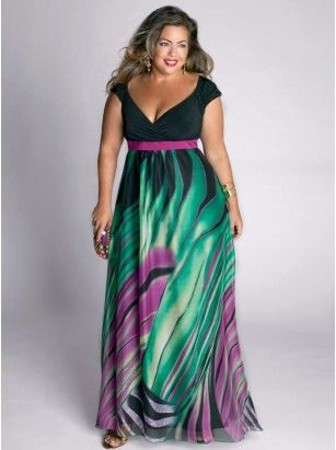Rainforest Paradise Plus Size Maxi Dress