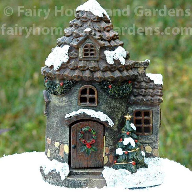 20 Best Winter Wonderland Fairy Garden Images On Pinterest