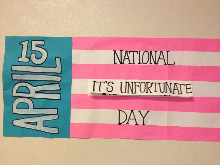 staff morale - national it's unfortunate day aka national that sucks day