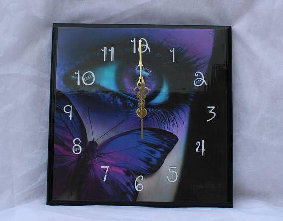 Butterfly Decoupage Wall Clock