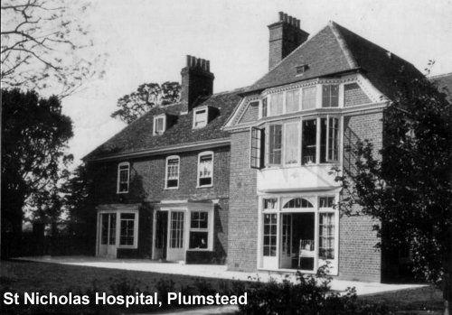 St Nicholas Hospital. Plumstead