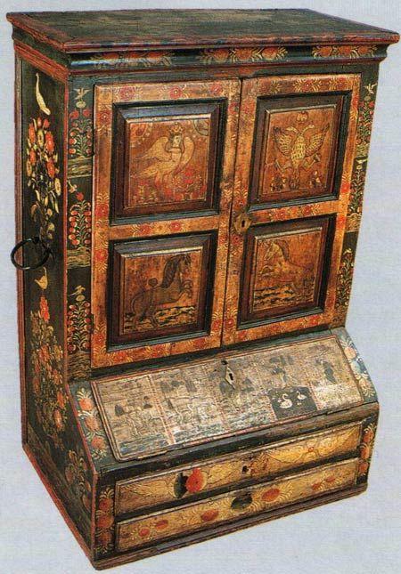 Шкафчик-поставец. Выговская пустынь. Вторая половина XVIII века