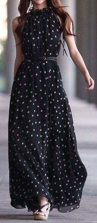 Latest fashion trends: Women's fashion | Polka dots maxi dress