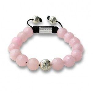 Nialaya bracelet rose quartz and silver: 240€