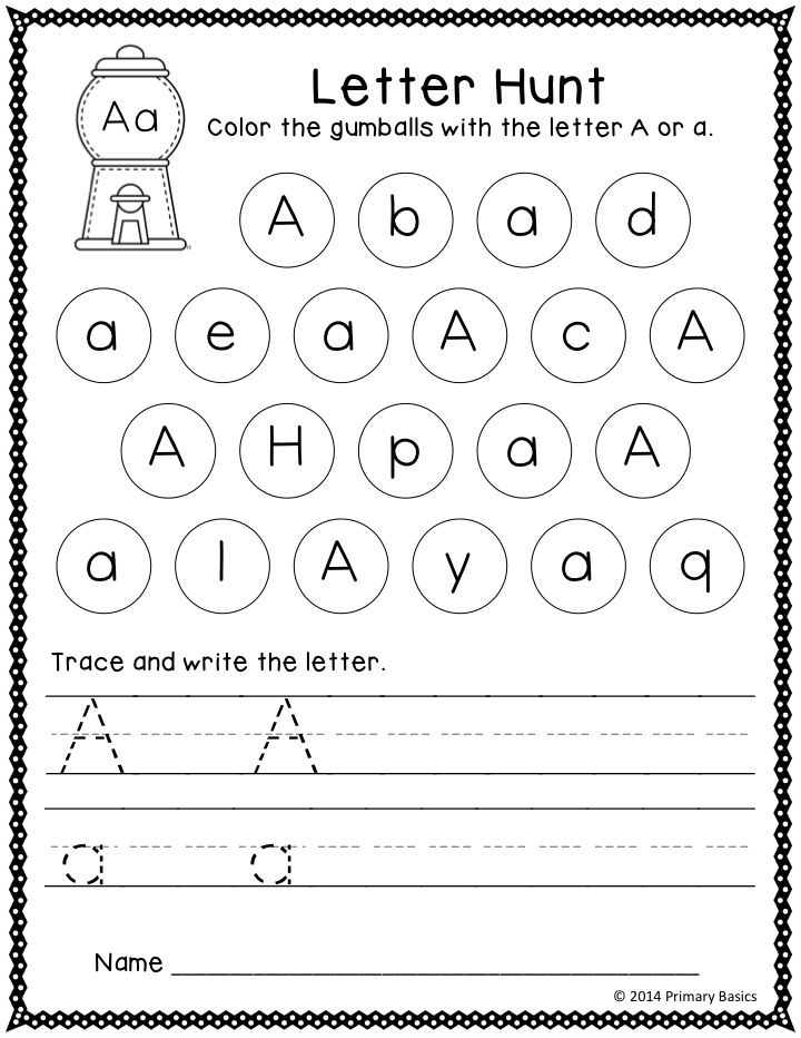 letter a activity sheet letter of the day grade k preschool writing 9587