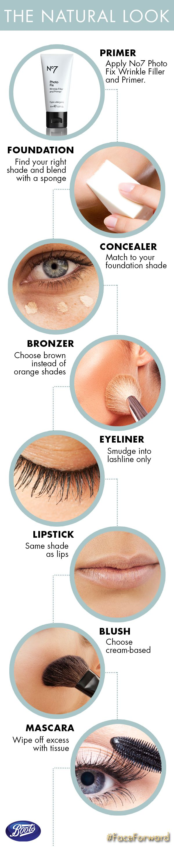 How to get a natural look—keep it simple! via @Boots Beauty USA #faceforward