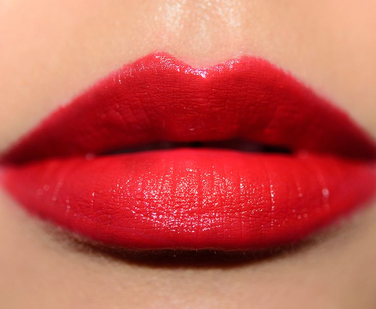 Red orange lipstick swatches